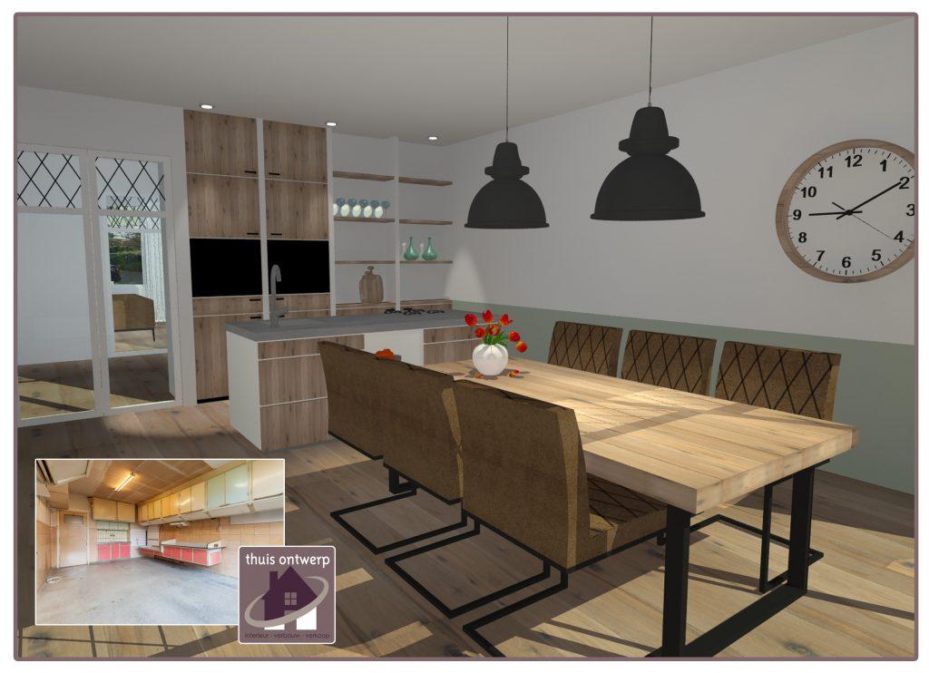 Interieuradvies_oude woning verkopen_3d woonkamer_ Thuis Ontwerp