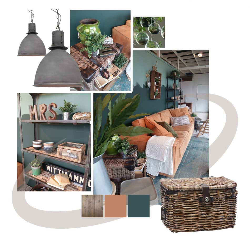 Stylingadvies_Urban jungle_betonlook_Oranje in het interieur
