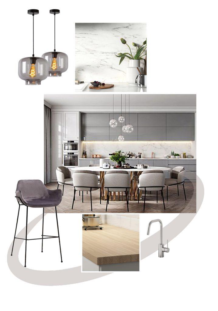 Inrichten keuken_keuken met marmer_woonadvies_Thuis Ontwerp