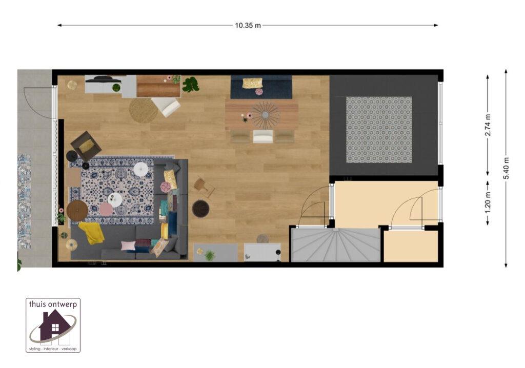 plattegrond_indelen_woonkamer_inrichten_hulp bij het inrichten van de woonkamer